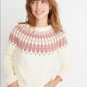 Madewell Fair Isle Keaton Pullover Sweater S